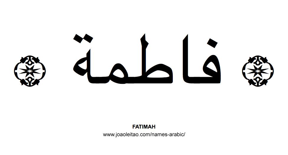 Fatimah Muslim Woman Name