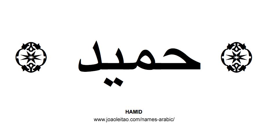 Hamid Muslim Male Name