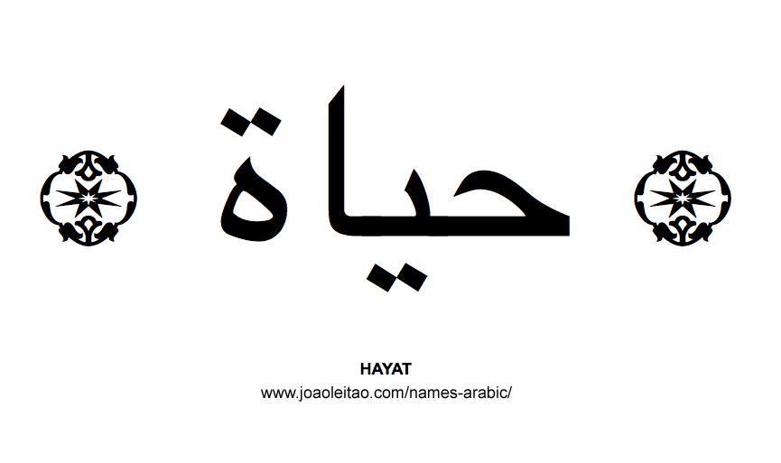 Hayat Muslim Woman Name