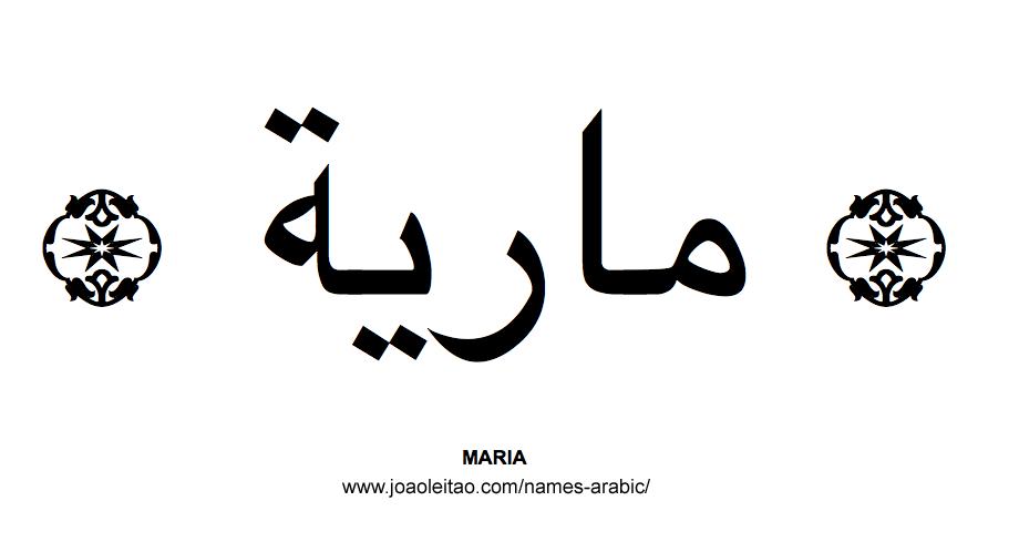 Maria Muslim Woman Name