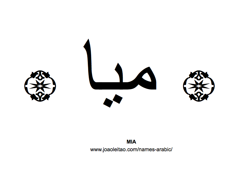 Your Name in Arabic: Mia name in Arabic