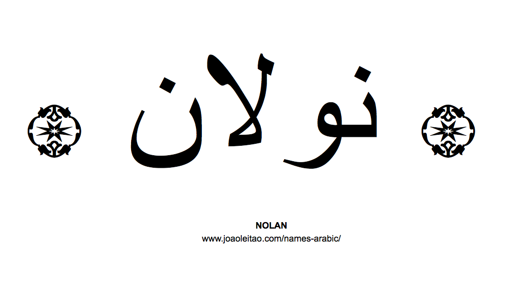 Your Name in Arabic: Nolan name in Arabic