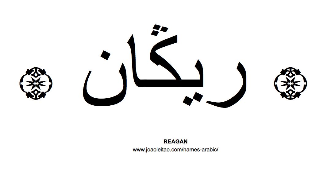 Your Name in Arabic: Reagan name in Arabic