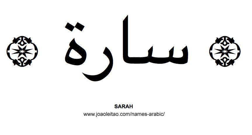 Sarah Muslim Woman Name