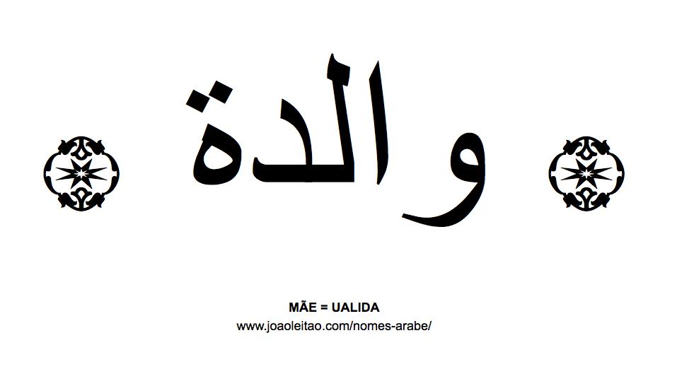 Palavra Mãe Escrita Em árabe Nomes Em árabe