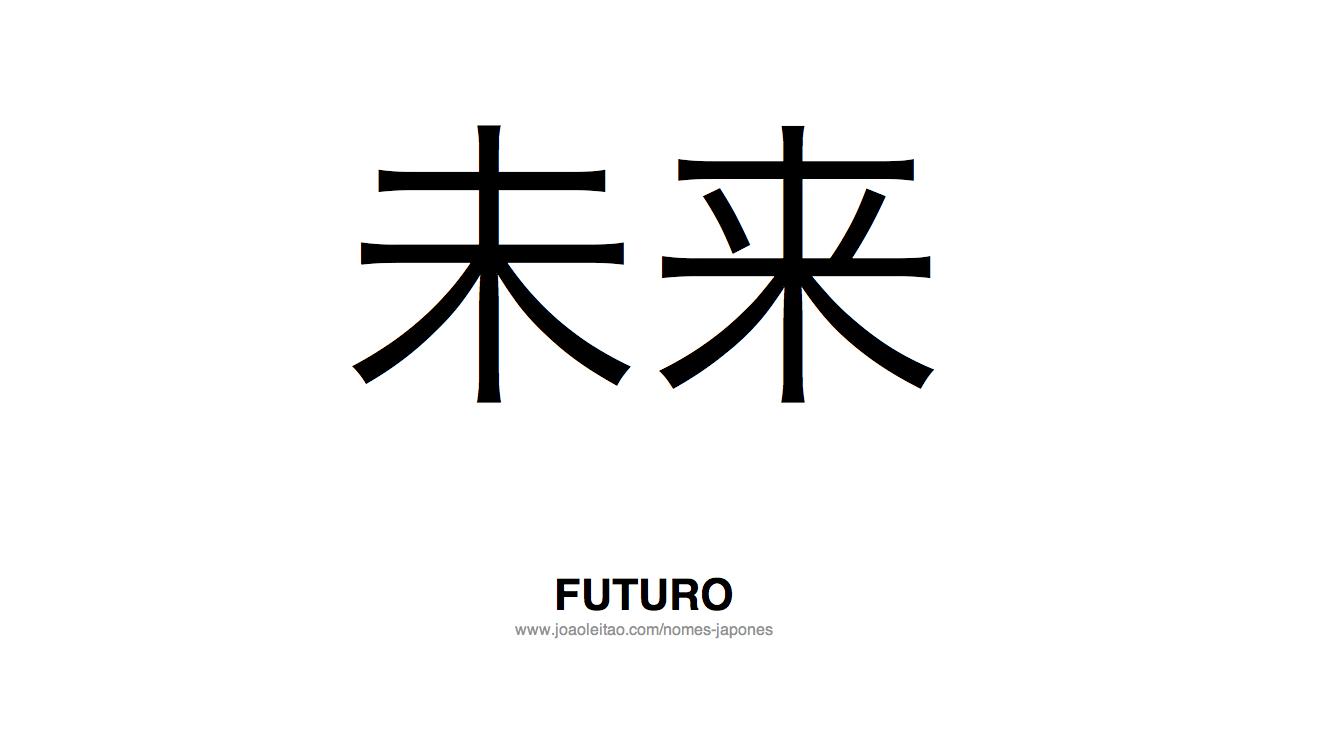 Palavra Futuro Escrita em Japones