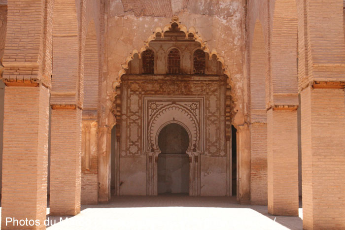 Décoration à l\'intérieur de la mosquée de Tinmel | Photos du Maroc