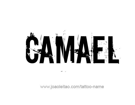 Tattoo Design Angel Name Camael
