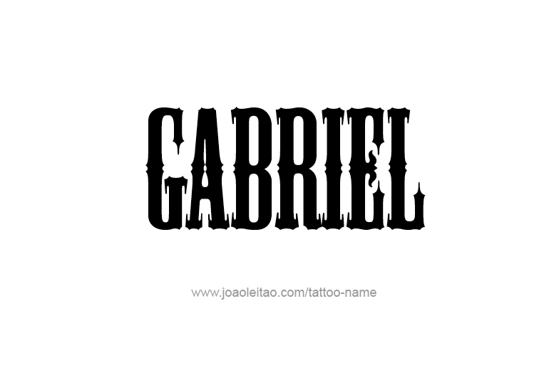 Tattoo Design Angel Name Gabriel