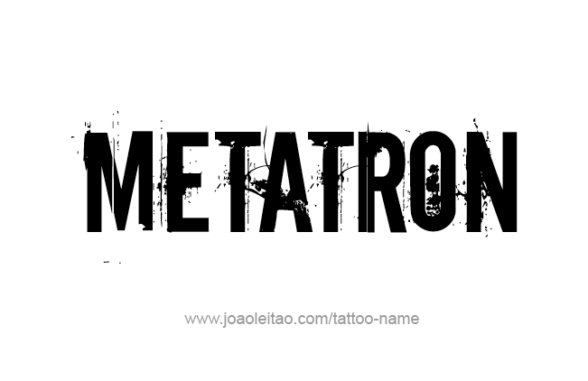 Tattoo Design Angel Name Metatron