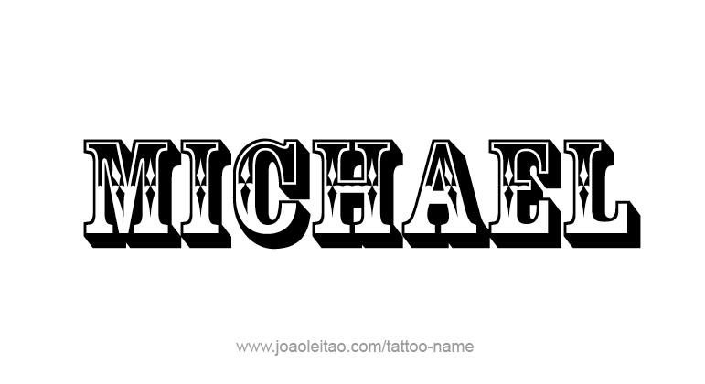 Tattoo Design Angel Name Michael