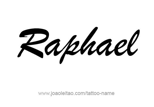 Tattoo Design Angel Name Raphael