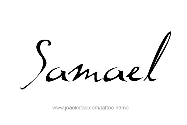 Tattoo Design Angel Name Samael