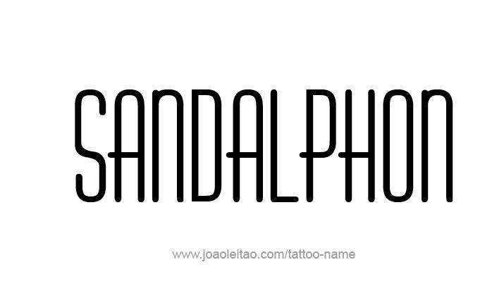 Tattoo Design Angel Name Sandalphon