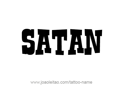 Tattoo Design Angel Name Satan