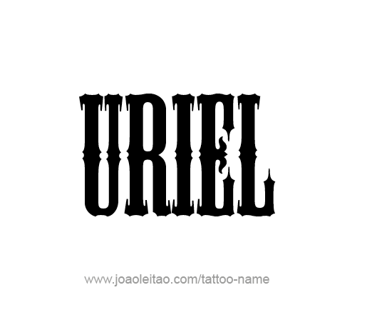 Tattoo Design Angel Name Uriel