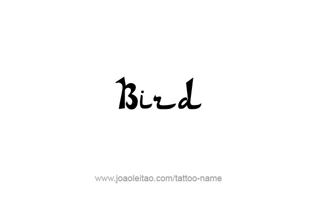 Tattoo Design Animal Name Bird
