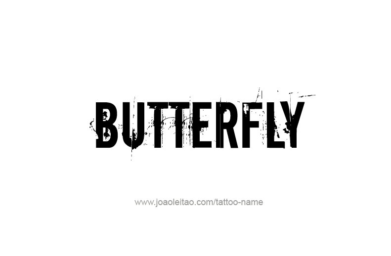 Tattoo Design Animal Name Butterfly