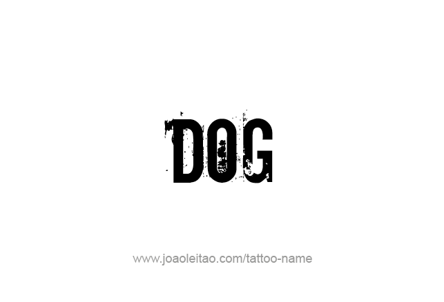 Tattoo Design Animal Name Dog