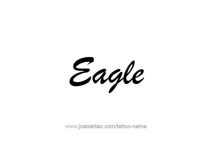 Tattoo Design Animal Name Eagle