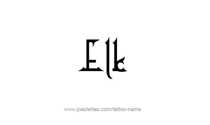 Tattoo Design Animal Name Elk