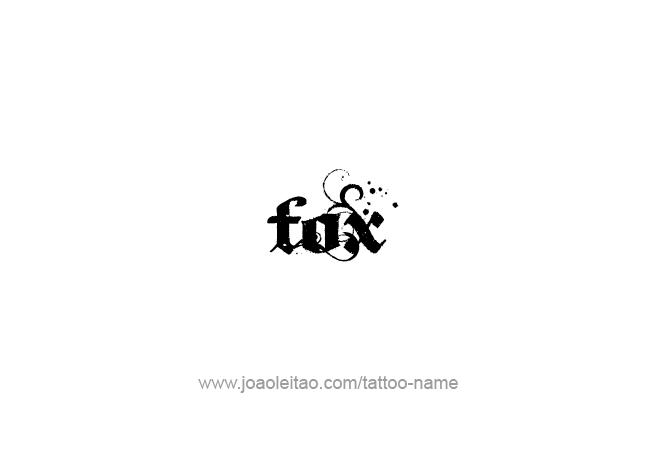 Tattoo Design Animal Name Fox