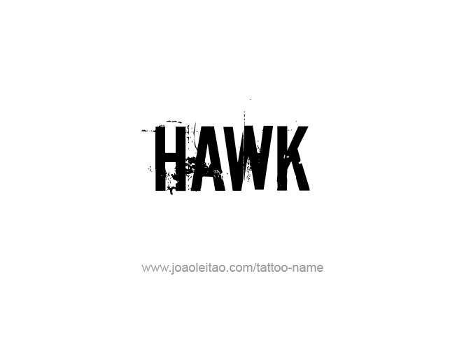 Tattoo Design Animal Name Hawk