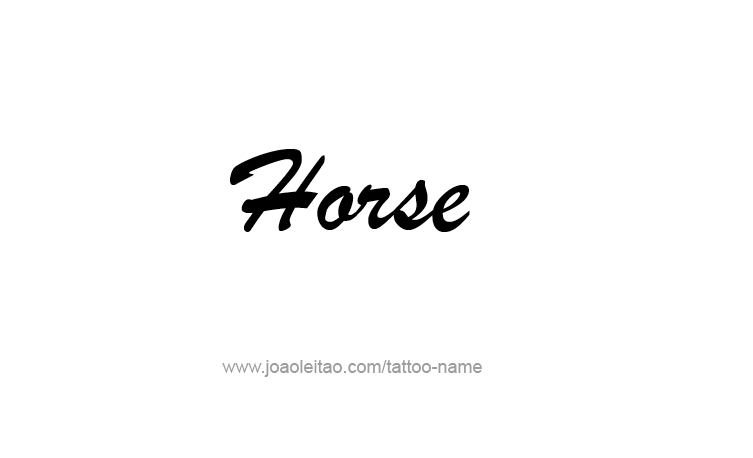 Tattoo Design Animal Name Horse