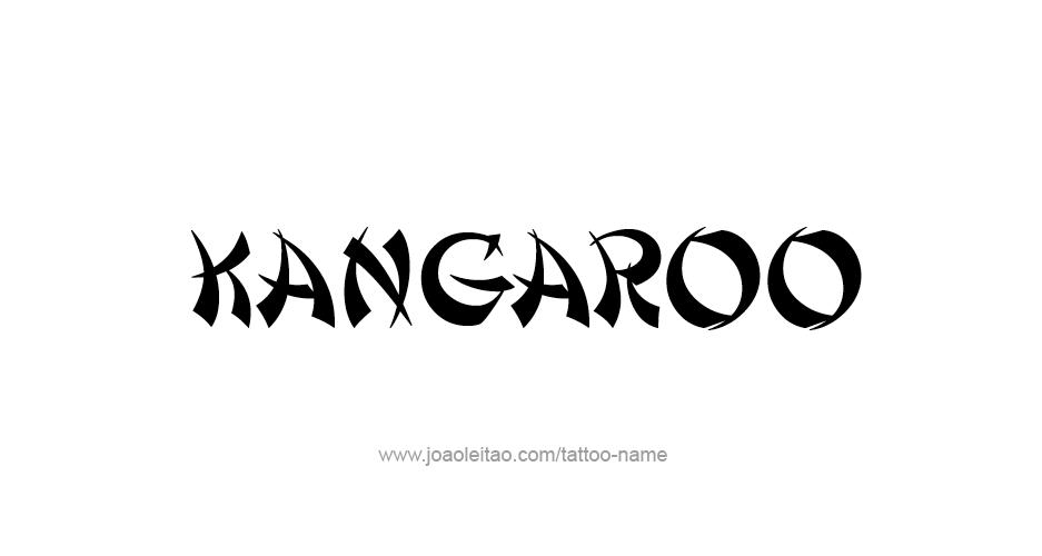 Tattoo Design Animal Name Kangaroo