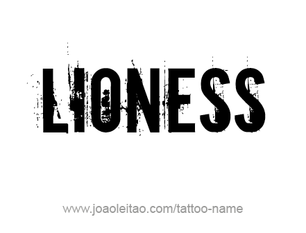 Tattoo Design Animal Name Lioness