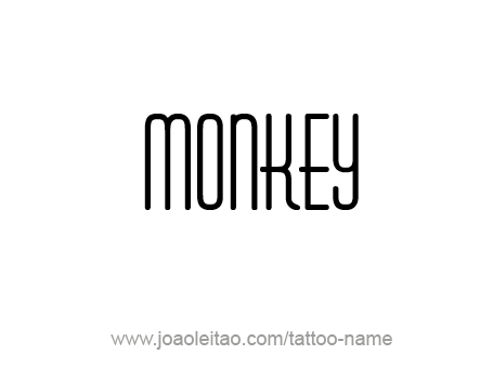 Tattoo Design Animal Name Monkey