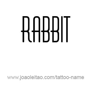 Tattoo Design Animal Name Rabbit