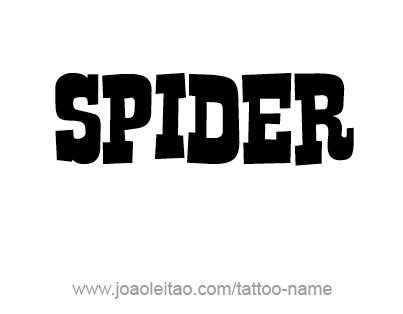 Tattoo Design Animal Name Spider