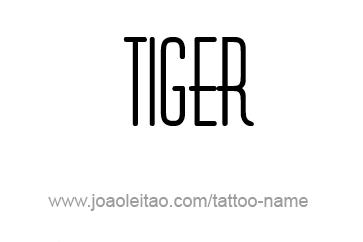 Tattoo Design Animal Name Tiger