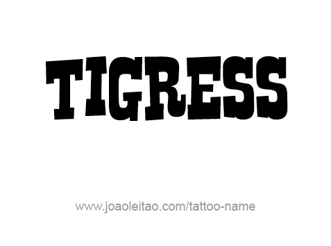 Tattoo Design Animal Name Tigress