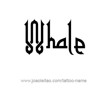 Tattoo Design Animal Name Whale