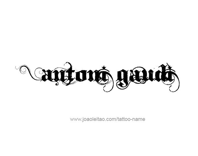 Tattoo Design Artist Name Antoni Gaudi