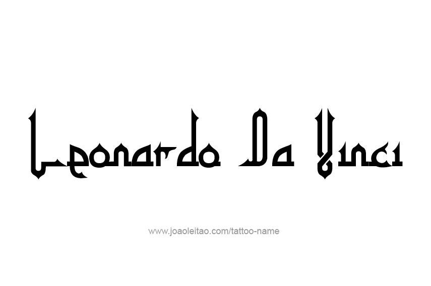 Tattoo Design Artist Name Leonardo Da Vinci