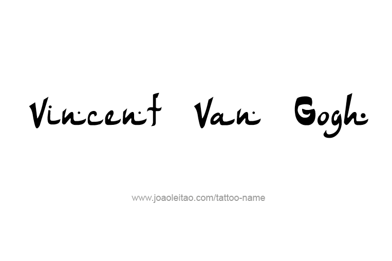 Tattoo Design Artist Name Vincent Van Gogh