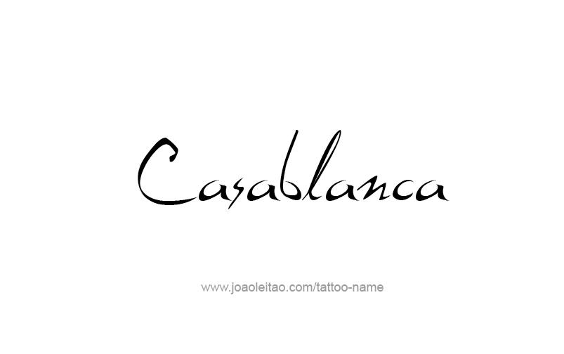 Tattoo Design City Name Casablanca