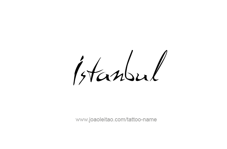 istanbul city name tattoo designs tattoos with names
