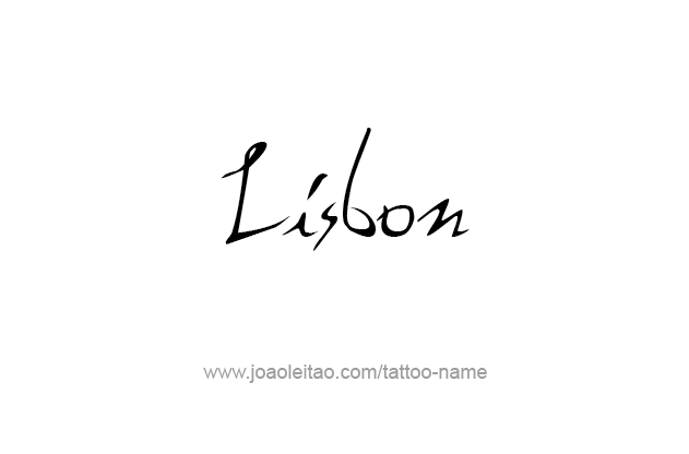 Tattoo Design City Name Lisbon