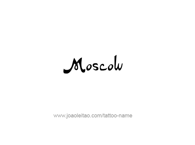 Tattoo Design City Name Moscow