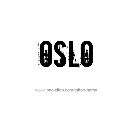 Tattoo Design City Name Oslo
