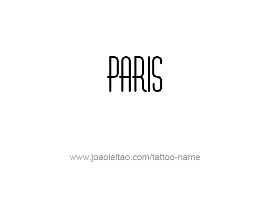Tattoo Design City Name Paris