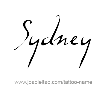 Tattoo Design City Name Sydney