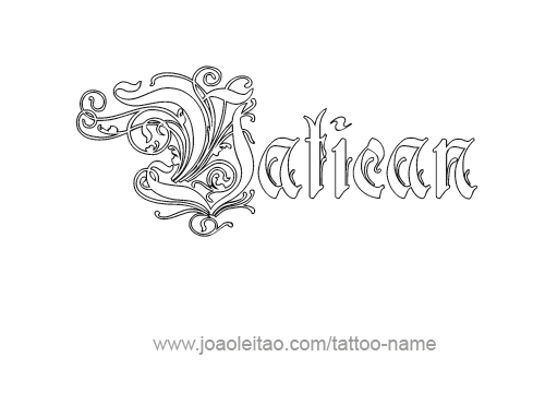 Tattoo Design City Name Vatican