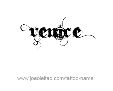 Tattoo Design City Name Venice