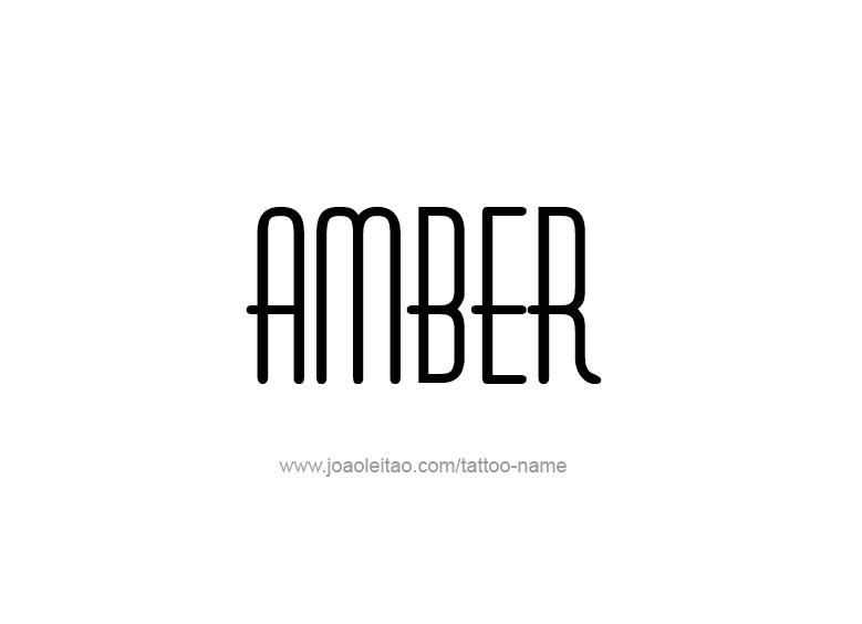 Tattoo Design Color Name Amber