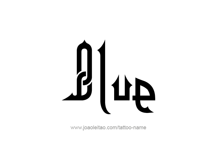 Tattoo Design Color Name Blue